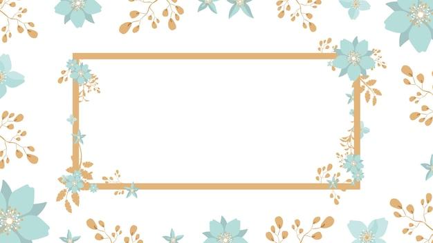 Fond D'été Floral Avec Place Pour Le Texte Vecteur Premium