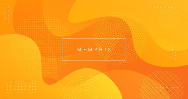 Fond d'été géométrique minimal avec des formes de memphis. toile de fond jaune abstrait.