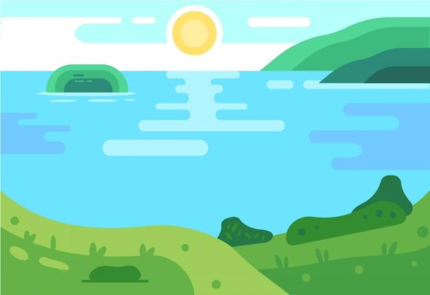 Fond d'été. illustration de landsape