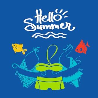 Fond d'été. illustration vectorielle