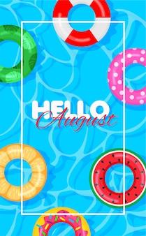 Fond d'été de piscine
