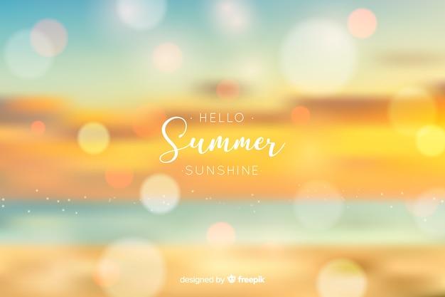 Fond d'été réaliste bonjour floue
