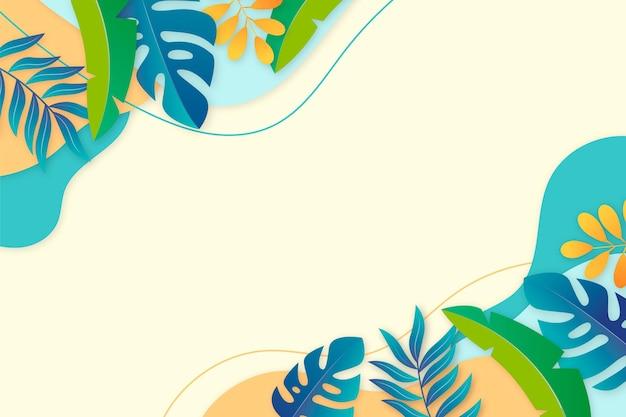 Fond D'été Réaliste Avec De La Végétation Vecteur gratuit
