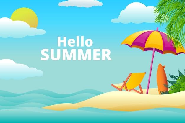 Fond d'été réaliste