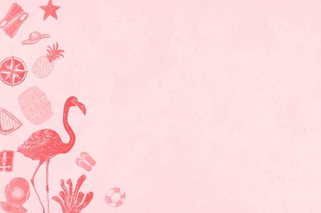 Fond d'été rose