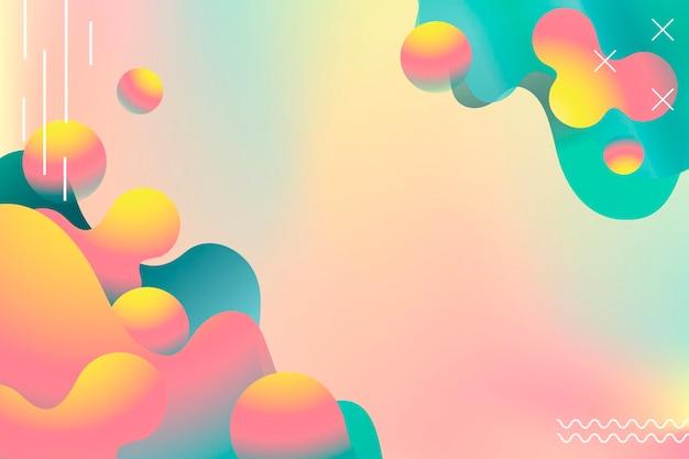 Fond d'été vibrant coloré