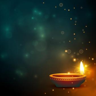 Fond étincelant de belles couleurs diwali diya