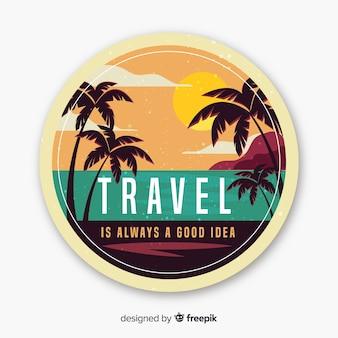 Fond d'étiquette de voyage vintage