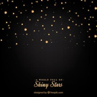 Fond d'étoile brillante noire