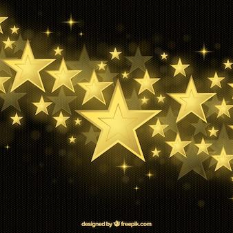 Fond d'étoile dorée brillante