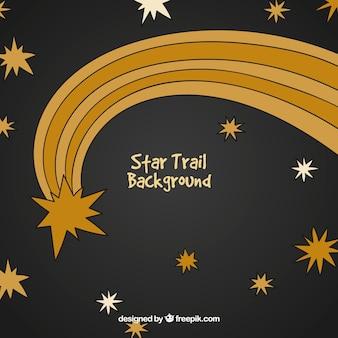 Fond d'étoile filante dessinés à la main