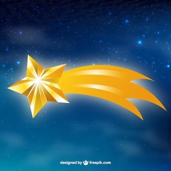 Fond étoile filante