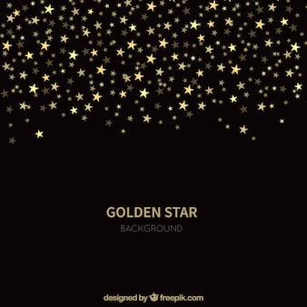 Fond d'étoile noire dorée
