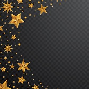 Fond étoile d'or avec le concept de noël