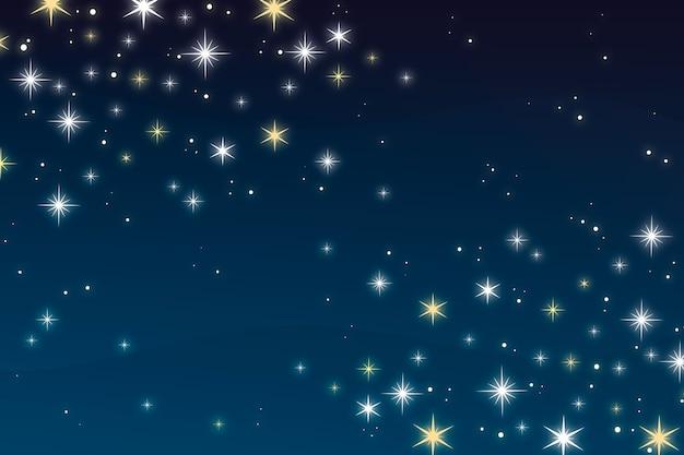 Fond d'étoiles lumineuses plates