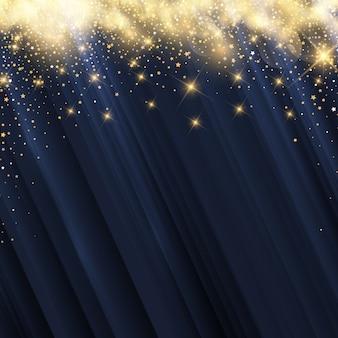 Fond d'étoiles de noël