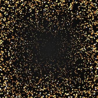 Fond d'étoiles d'or