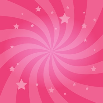 Fond d'étoiles radiales tourbillonnantes