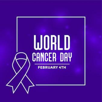 Fond d'événement de la journée mondiale du cancer