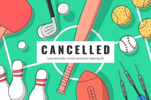 Fond d'événement sportif annulé