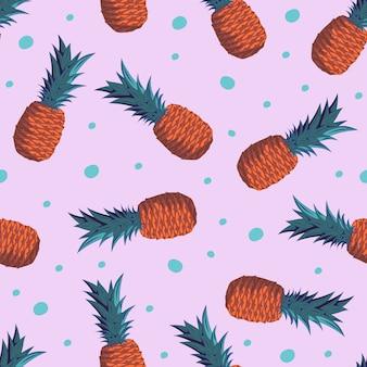 Fond exotique tendance sans soudure ananas