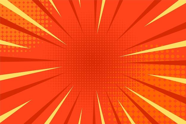 Fond d'explosion comique avec effets de demi-teintes et rayons