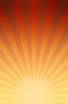 Fond d'explosion rayée de style bande dessinée rétro ou rayons de soleil avec dégradé clair et foncé