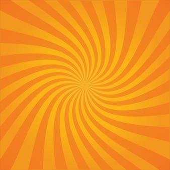 Fond d'explosion en spirale rayée de style bande dessinée rétro ou rayons de soleil avec dégradé clair et foncé