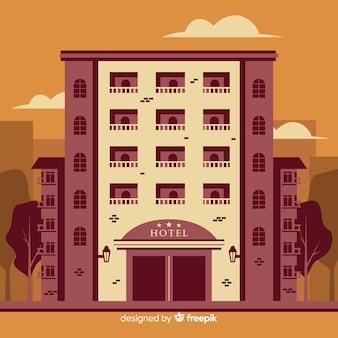 Fond de façade d'hôtel plat