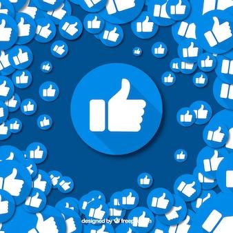 Fond Facebook avec des icônes similaires