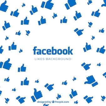 Fond facebook avec des goûts