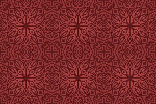 Fond de fantaisie de beau vecteur avec motif transparent rouge coloré abstrait