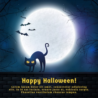 Fond fantasmagorique de halloween.