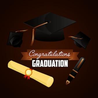 Fond de félicitations pour l'obtention du diplôme