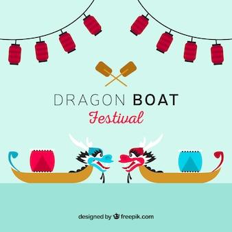 Fond festival de bateau dragon