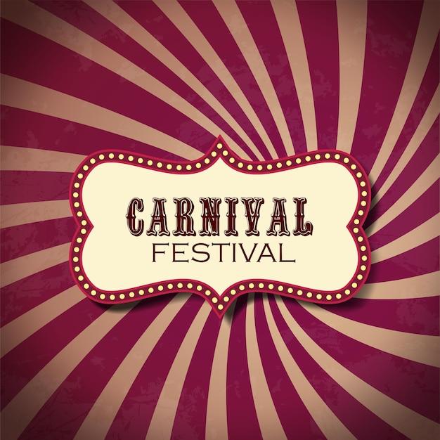 Fond de festival de carnaval de cirque classique