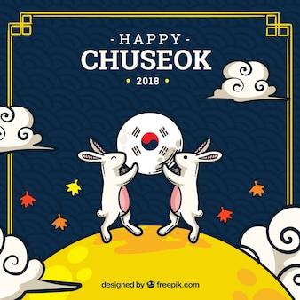 Fond de festival de chuseok