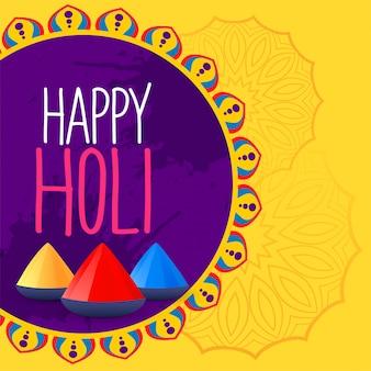Fond de festival coloré holi heureux