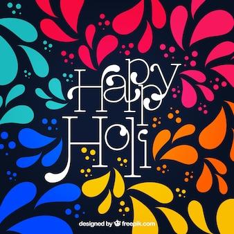 Fond de festival coloré holi