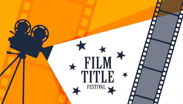 Fond de festival de film de film de cinéma