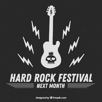 Fond de festival de hard rock avec guitare