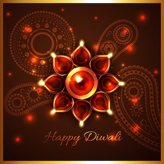 Fond de festival hindou de diwali
