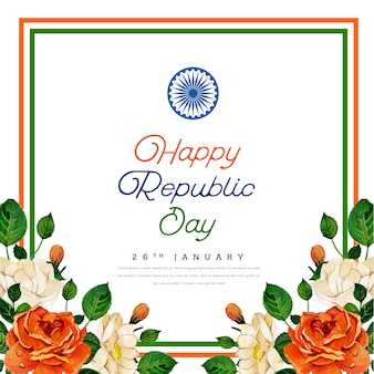 Fond de festival indien happy republic day