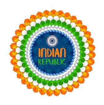 Fond de festival indien happy republic day