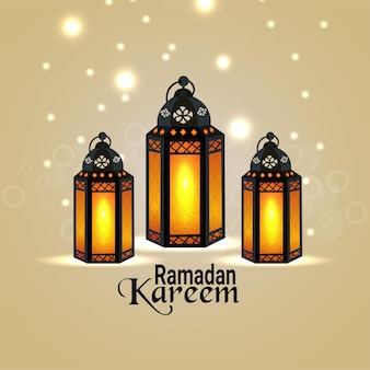 Fond de festival islamique ramadan kareem avec lanterne islamique arabe