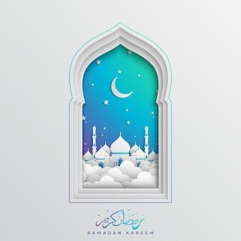 Fond de festival musulman ramadan kareem islamique