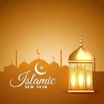 Fond de festival traditionnel de muharram du nouvel an islamique