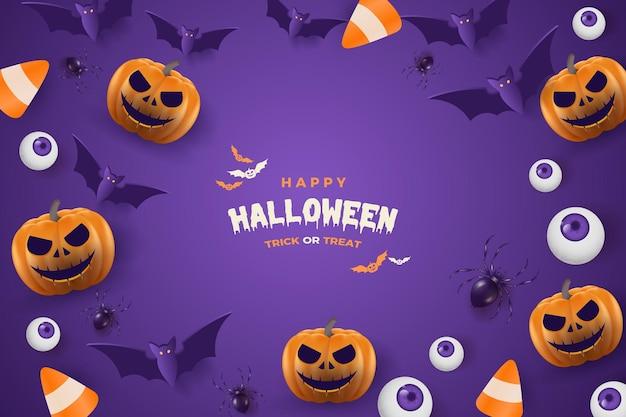 Fond de festivités de fête d'halloween
