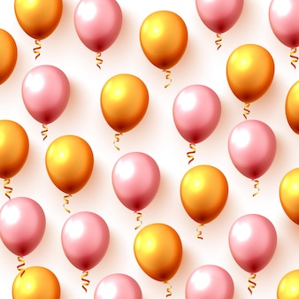 Fond de fête ballon or couleur festive. illustration vectorielle