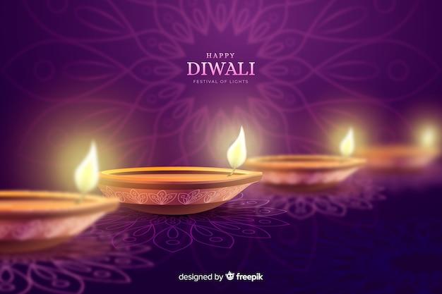 Fond de fête des bougies de vacances diwali